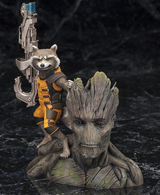 Guardians of the Galaxy Groot and Rocket Raccoon Complete Figure / Стражи Галактики Грут и реактивный енот фигурка