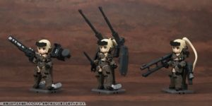 Frame Arms Girl KT-321f Gourai Series - Desktop Army - All 3Type Set