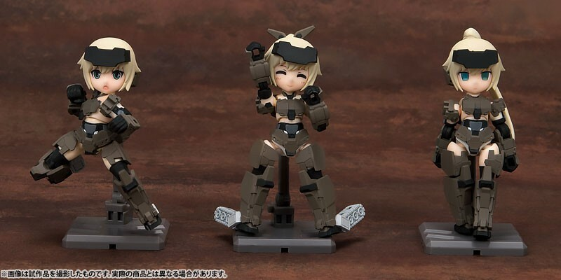 Frame Arms Girl KT-321f Gourai Series – Desktop Army – All 3Type Set 16