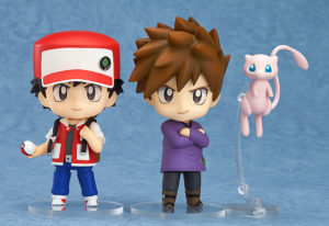 Nendoroid 612. Pokemon Trainer Red & Green / Покемон аниме фигурка