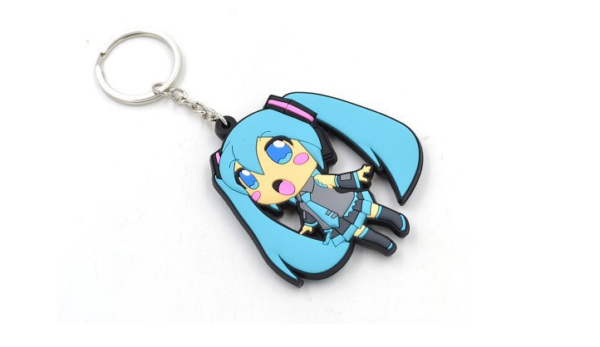 Hatsune Miku Vocaloid Keychain / Вокалоид Мику брелок для ключей
