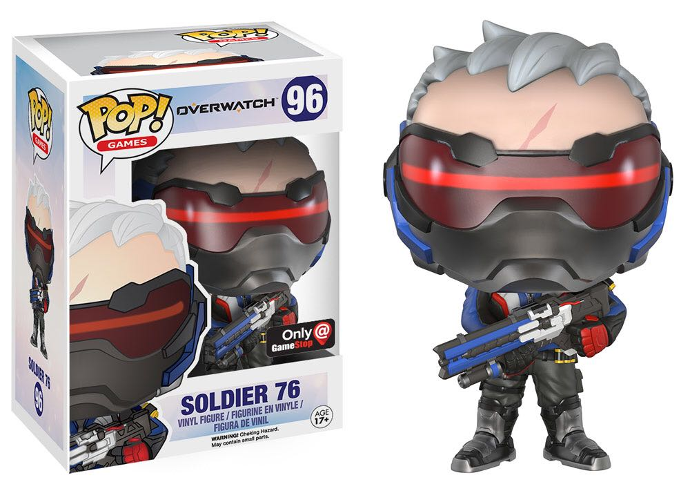 Funko POP. Overwatch Soldier 76 / Фанко Поп - Овервотч фигурка Солдат 76